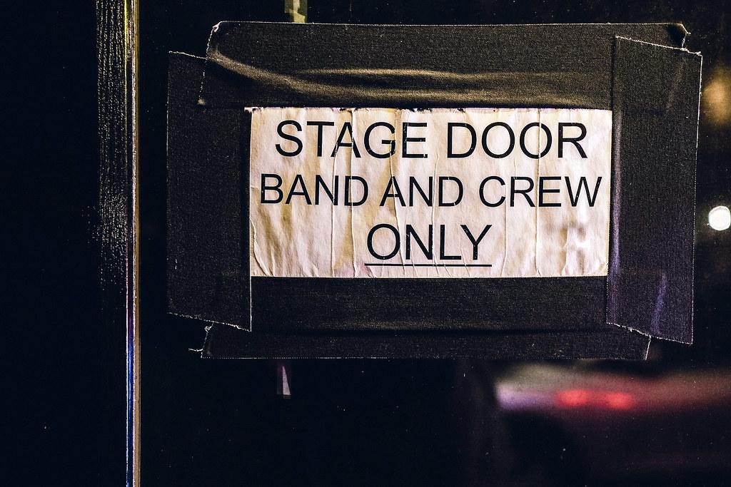 Finding the stage door