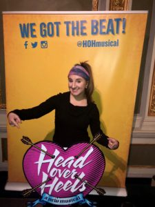 Skylar at Head Over Heels on Broadway
