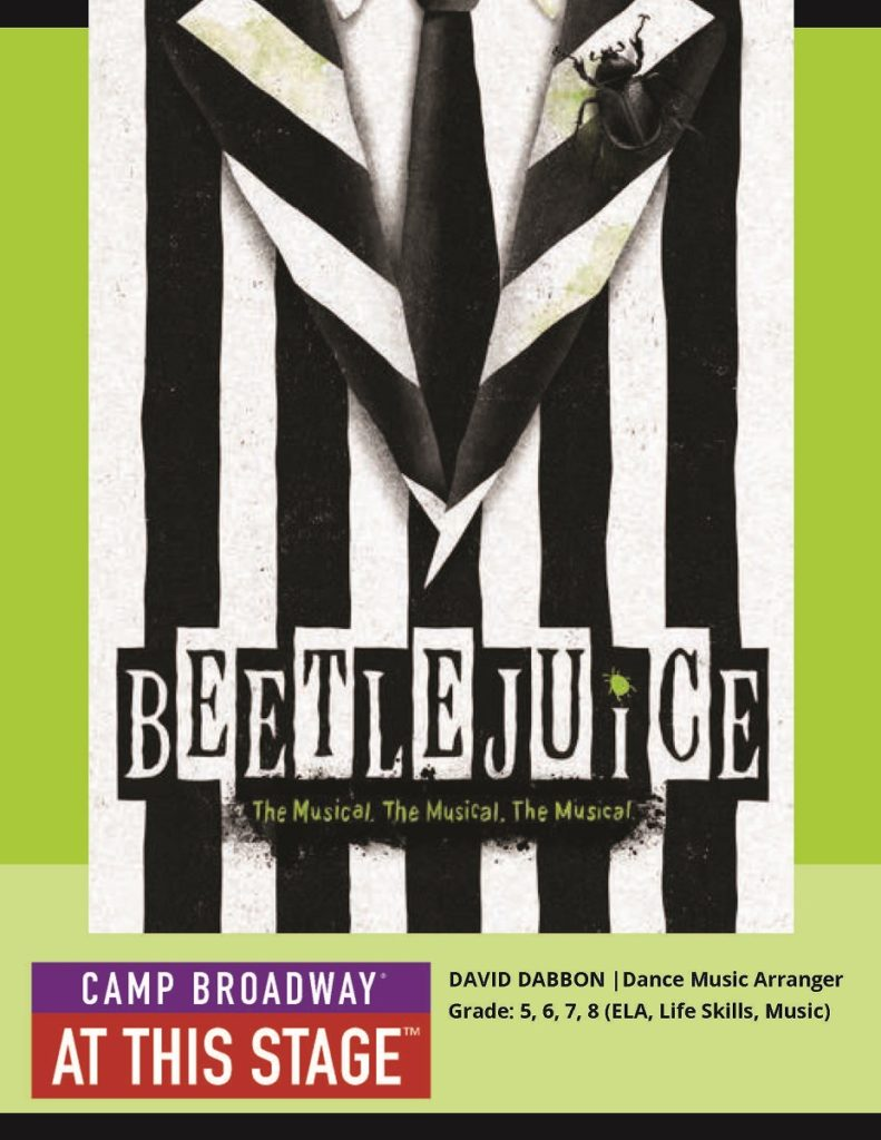 Beetlejuice at our performing arts workshop